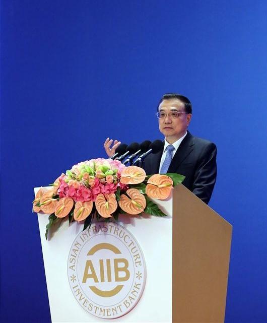 Li Keqiang, AIIB