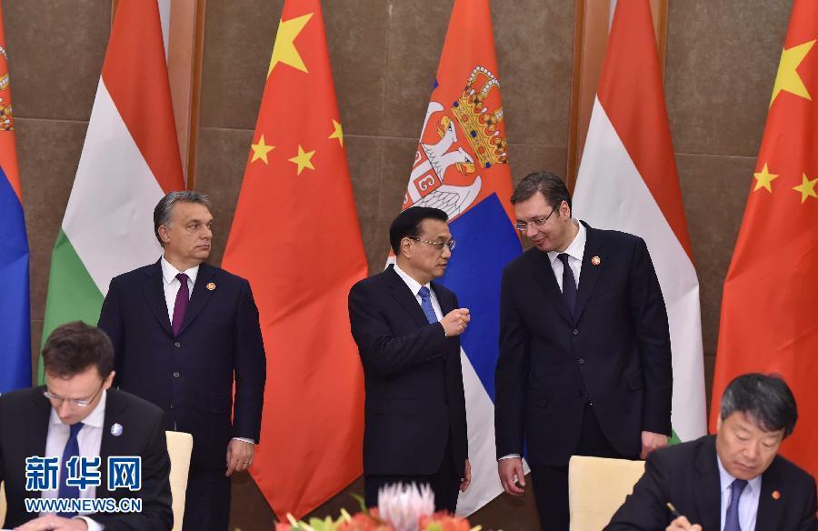 Li Keqiang, Szijjártó Péter, Orbán Viktor