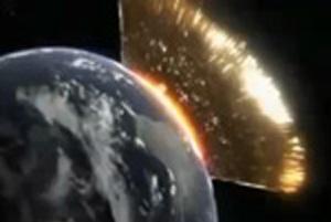 Tudományos videó egy meteor becsapódásáról