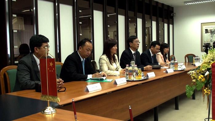 A kínai delegáció