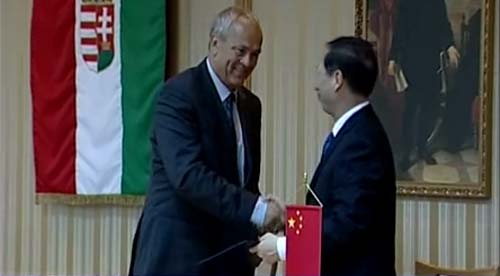 2012.augusztusában Magyarországpn írt alá együttműködési szándéknyilatkozatot a Zala Megyei Közgyűlés elnöke, Manninger Jenő és a 80 millió lakosú kínai Jiangsu Tartomány főtanácsadója, Shi Taifeng.