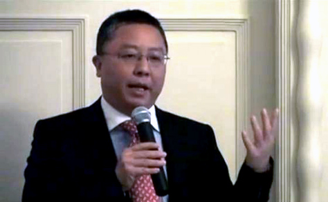 Wang Hongliang az Európai-Kínai Kamarák és Kereskedelmi Társulások Befektetést Elősegítő Szövetségének megnyitóján