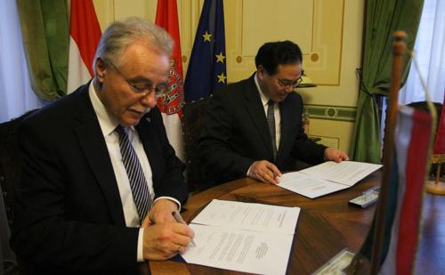 Sopron és Yichang szándéknyilatkozatot írt alá