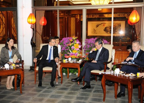 Szijjártó Péter külgazdasági és külügyminiszter Kínában tárgyalt Vang Ji kínai külügyminiszterrel