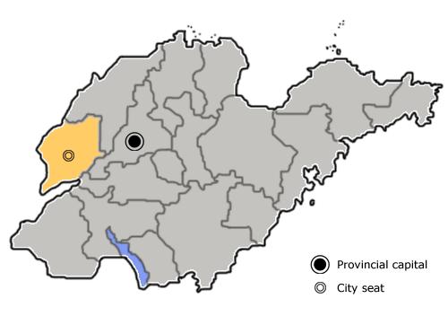 A kínai Liaocheng prefektúra-jogú város