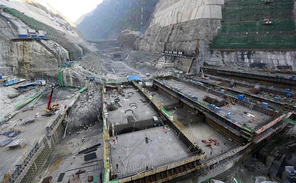 Kínában épül a világ második legnagyobb vízi erőműve - Fotó: Xinhua/Zhao Yun