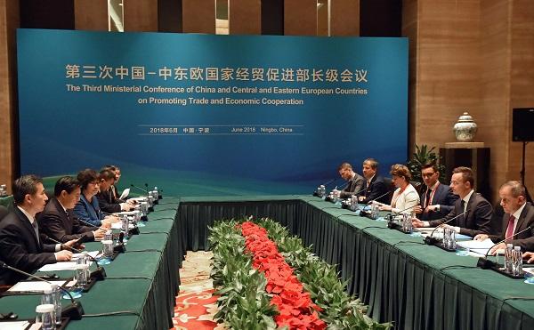 Szijjártó Péter részt vett Kína és 16 közép-, illetve kelet-európai ország kereskedelmi minisztereinek találkozóján