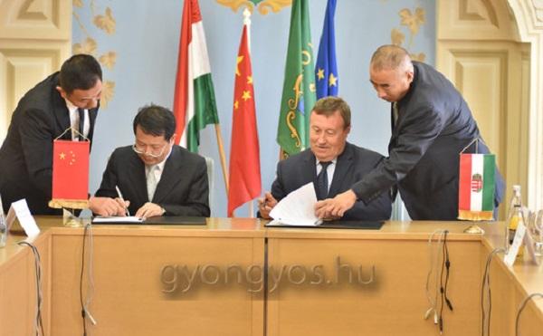 Testvérvárosi megállapodást kötött Gyöngyös a kínai Luohe városával