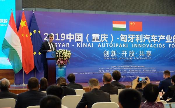 Kínai-magyar autóipari innovációs fórumon vett részt Palkovics