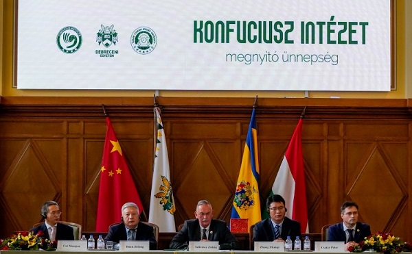 Konfuciusz Intézetet adtak át a Debreceni Egyetemen - fotók: https://civishir.hu/
