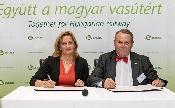 A Hungrail és a ChinaCham Hungary együttműködési megállapodást kötött