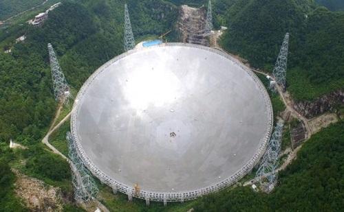Kutatókra vár a kínai rádióteleszkóp