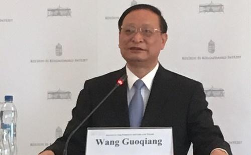Wang Guoqiang a Külügyi Intézetben tartott előadást