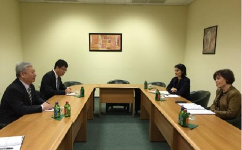 Duan Jielong Végh Zsuzsannával találkozott