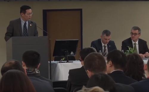 Du Jiang beszéde a 2. Kína Információs Konferencián