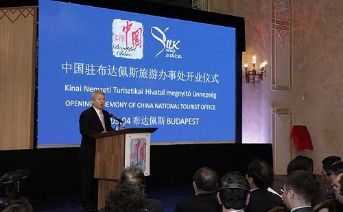 Duan Jielong nagykövet úr is részt vett a CNTA megnyitó ünnepségén