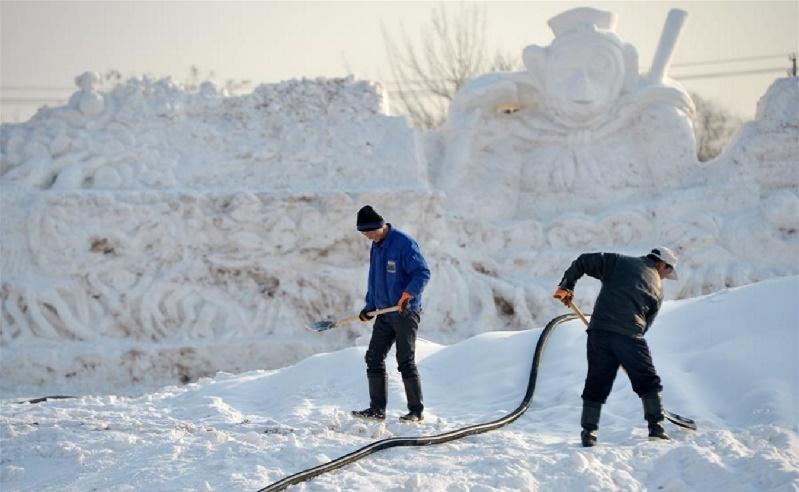 Yinchuan, Kína, Hó és Fény fesztivál